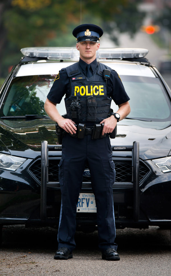 OPP Officer with vehicle